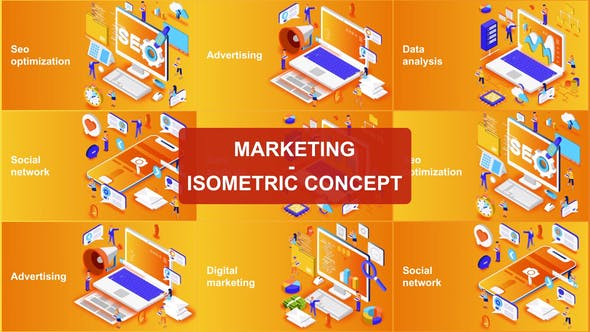 Marketing - Concepto isométrico