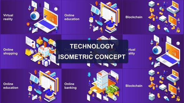 Tecnología - Concepto Isométrico
