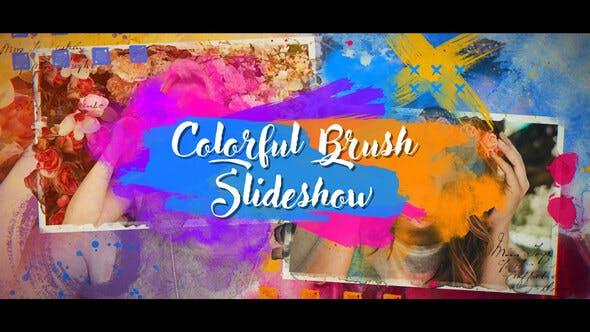 Thumbnail for Presentación de diapositivas de pinceles coloridos