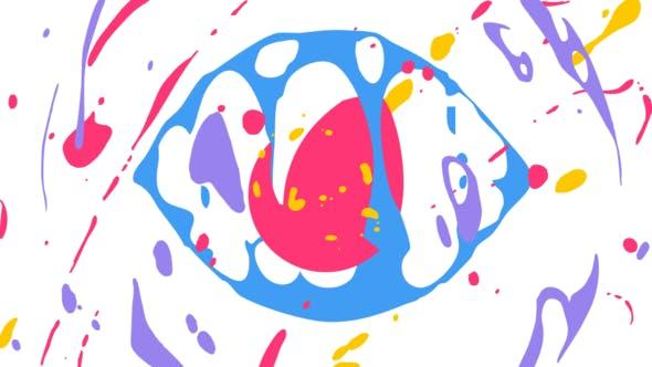 Liquid Splash Cartoon Logo