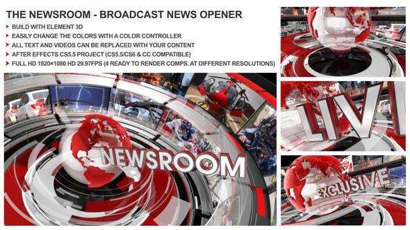 The Newsroom - Broadcast Design News Opener