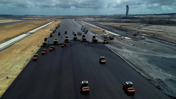 Thumbnail for Asphalting Construction Works On An Airport Runway