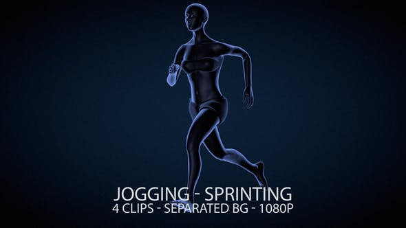 Thumbnail for Running Female Jogging and Sprinting