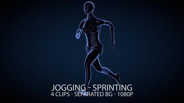 Laufen Female Joggen und Sprinten