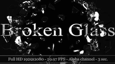 3D Broken Glass With Alpha (5-Pack)
