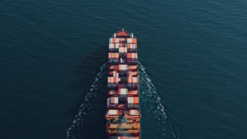 Cargo Ship Carrying Container