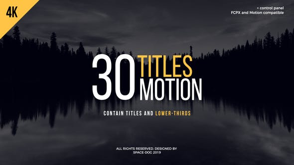 Thumbnail for 30 Motion Titles | FCPX or Motion