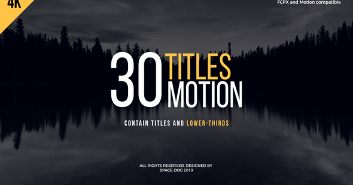 Download 30 Motion Titles | FCPX or Motion by Space-Dog