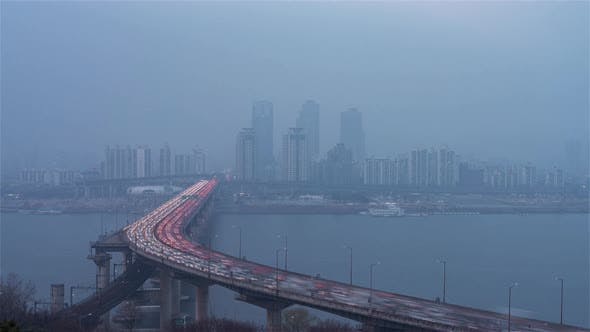 Thumbnail for Cheongsam Bridge from day to night in Seoul