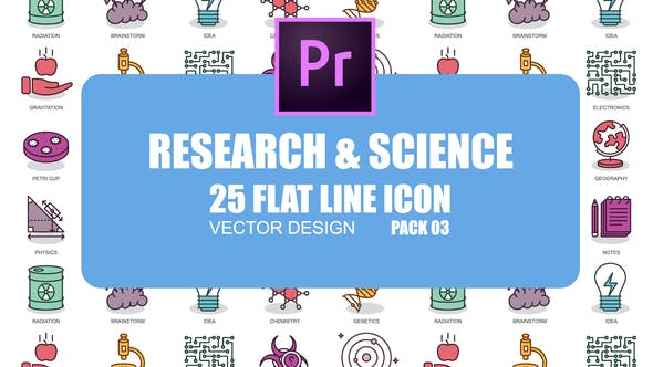Thumbnail for Research And Science - Flat Animation Icons (MOGRT)