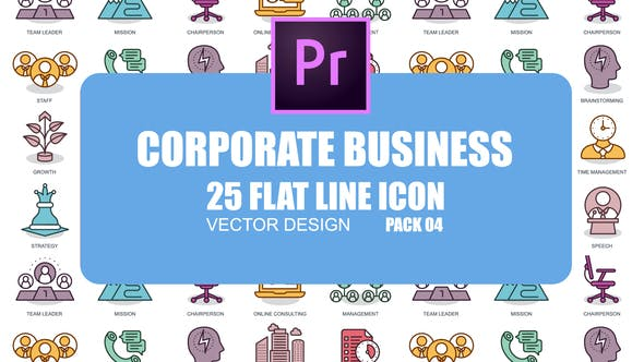Thumbnail for Corporate Business - Flat Animation Icons (MOGRT)