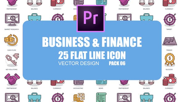 Thumbnail for Business And Finance - Flat Animation Icons (MOGRT)