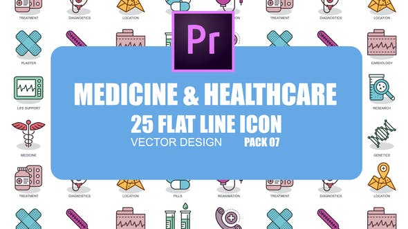 Thumbnail for Medicine And Healthcare – Flat Animation Icons (MOGRT)