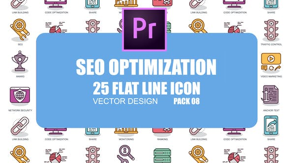 Thumbnail for SEO Optimization – Flat Animation Icons (MOGRT)