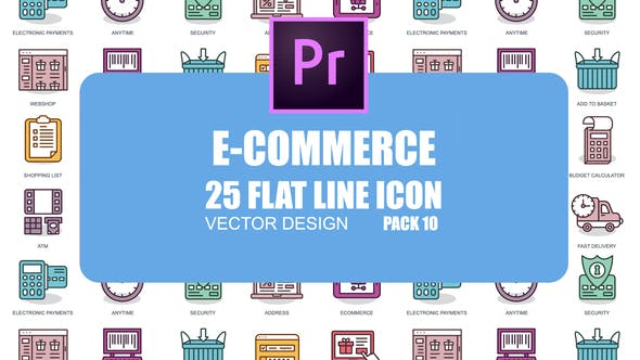 Thumbnail for E-Commerce – Flat Animation Icons (MOGRT)