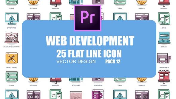 Thumbnail for Web Development – Flat Animation Icons (MOGRT)