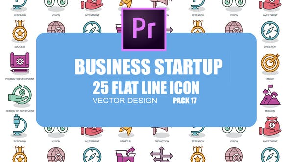 Thumbnail for Business Startup – Flat Animation Icons (MOGRT)