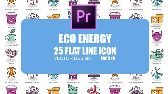 Thumbnail for Eco Energy – Flat Animation Icons (MOGRT)