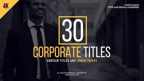 30 Corporate Titles   FCPX