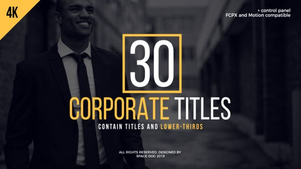 Thumbnail for 30 Corporate Titles | FCPX