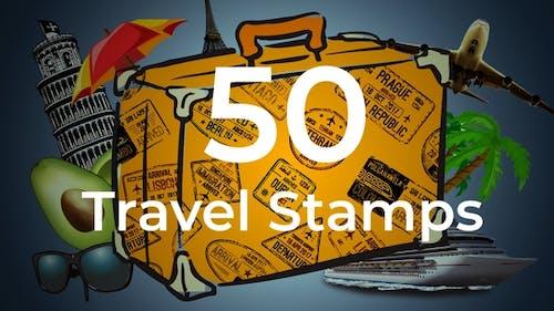50 Reise-Briefmarken