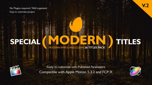 Special Modern Titles Pack for FCPX