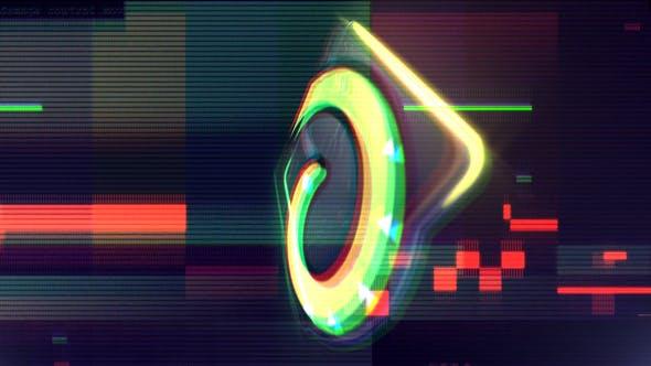 Thumbnail for Glitch Neon Logo Reveal
