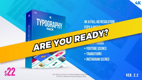 Thumbnail for Typography Pack PRO | FCPX or Apple Motion