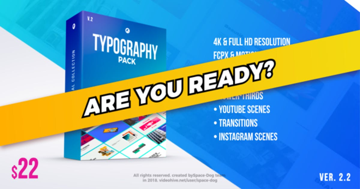 Download Typography Pack PRO | FCPX or Apple Motion by Space-Dog
