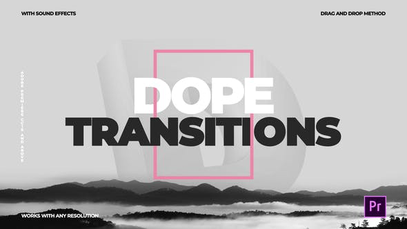 Dope Transitions   For Premiere Pro by CandyMustache on Envato Elements