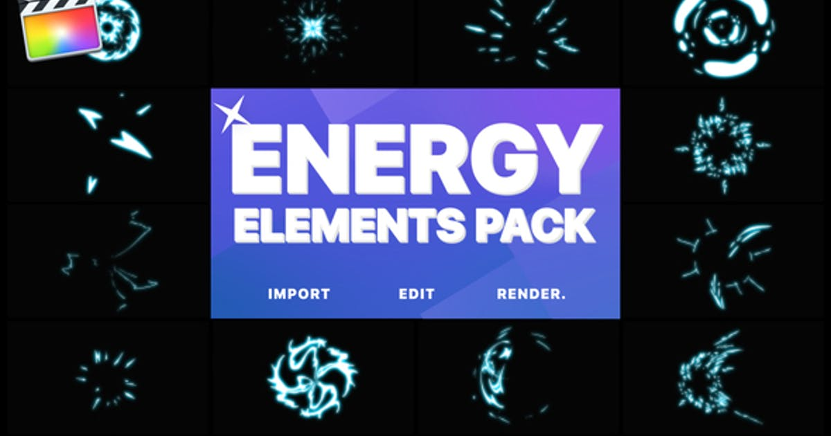 Download Energy Elements | Apple Motion Template by MisterFlashAnimation