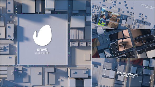 Thumbnail for City Opening/ Town Intro/ 3D Roof of the Building/ Social Dramatic Logo Reveal/ Economics & Politics