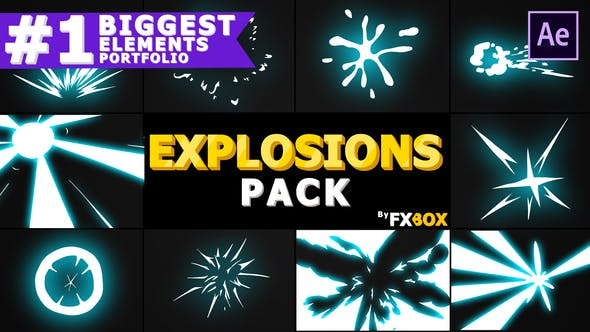 Thumbnail for Explosion Elements Pack | After Effects Template