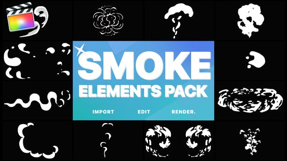 Thumbnail for 2D FX Smoke Elements | FCPX