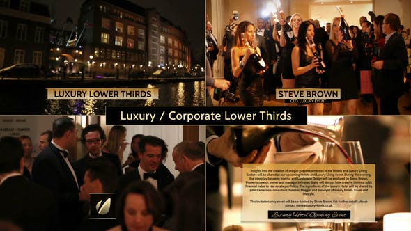 Thumbnail for Luxury / Corporate - Lower Thirds Package