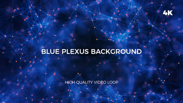 Cover Image for Blue And Orange Plexus 4K Background