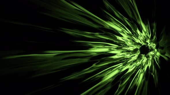 Green Energy Burst Portal Effect 4K 02(Side View)