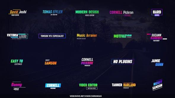 Colorful Glitch Titles for Premiere Pro