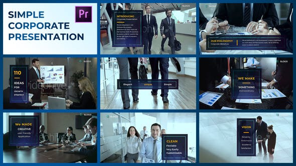 Thumbnail for Simple Corporate Presentation – Premiere Pro