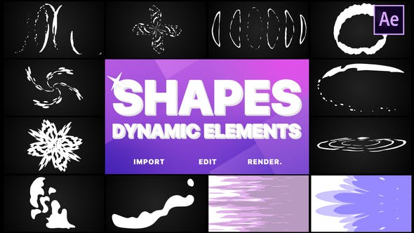 Thumbnail for Dynamic Shapes Pack | After Effects
