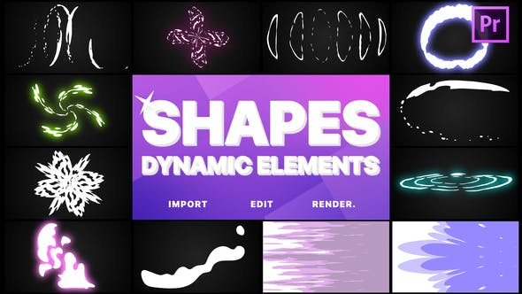 Thumbnail for Dynamic Shapes Pack | Premiere Pro MOGRT