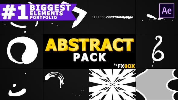 Thumbnail for Cartoon Abstract Elements | After Effects