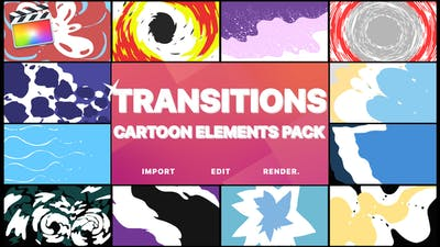 Cartoon Transitions | FCPX
