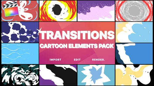 Cartoon Transitions   FCPX