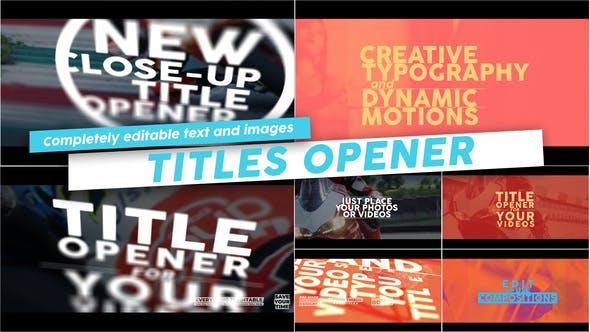 Thumbnail for Titles Opener