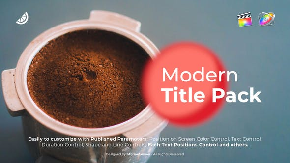 Thumbnail for Modern Typography Titles Pack for FCPX