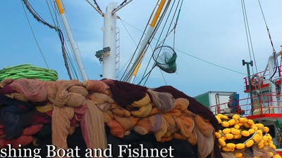 Fishing Boat And Fishnet