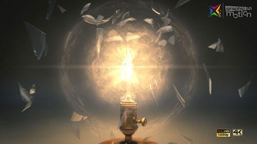 Vintage Light Bulb Explosion Logo