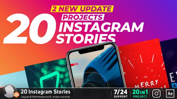 """da631411d56 17 Video Templates Compatible with Adobe After Effects Tagged with  """"instagram story"""""""