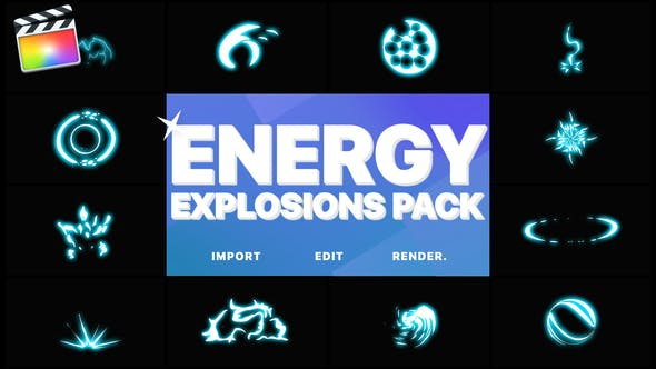 Thumbnail for Energy Explosion Elements | FCPX